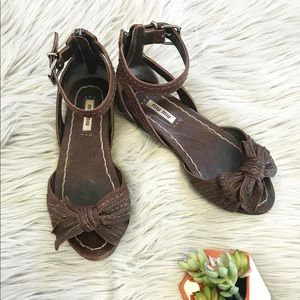 Miu Miu Leather Bow Sandals